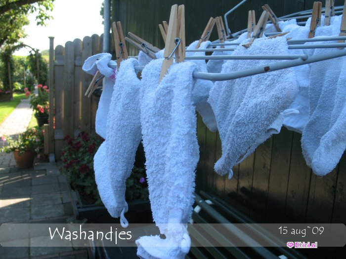 Hangende washandjes