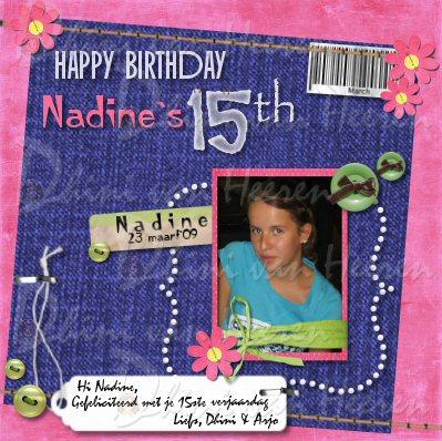 Gefeliciteerd met je 15ste verjaardag
